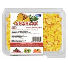 Ananassi kuubikud, külmutatud, 300g/12tk