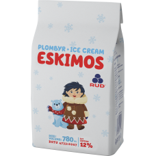 Vanilliplombiir Eskimos 780ml/450g/6tk, RUD (-18C)